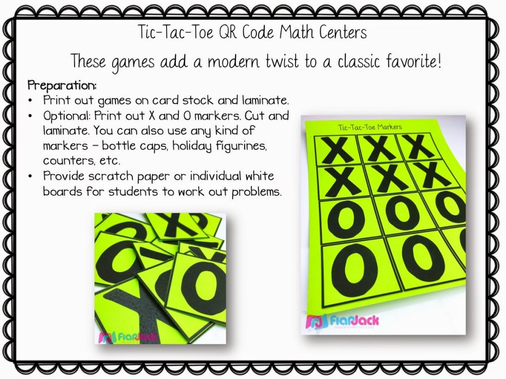 Identifying Angles Qr Code Math Game Freebie