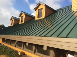 Our new roof at Flapjack's Pancake Cabin in Garden City, SC.