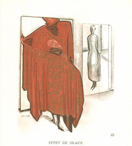 An image from Gazette du Bonton illustrating the geometric shape of 1920s fashion.