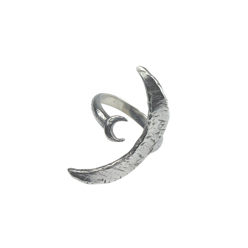two moon ring | silver