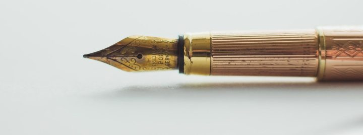 Fountain Pen for drafting a Will