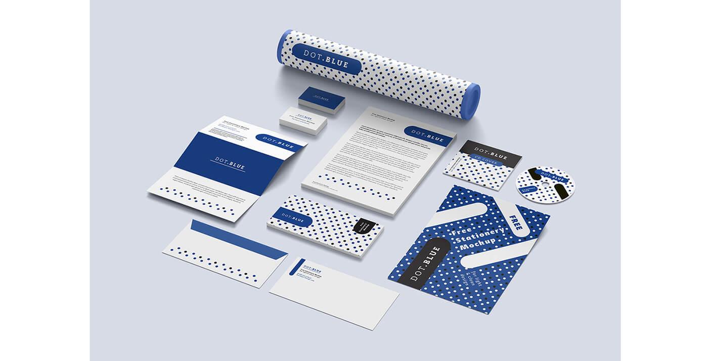 15 Free Branding Corporate Identity Stationery PSD Templates