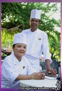 Chef Ni Made Sadnyani and Kompyang Wikanta from Grand Hyatt Bali