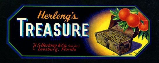 Herlong's Treasure lable
