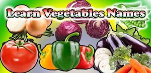 تعليم أسماء الخضروات باللغة الانجليزية