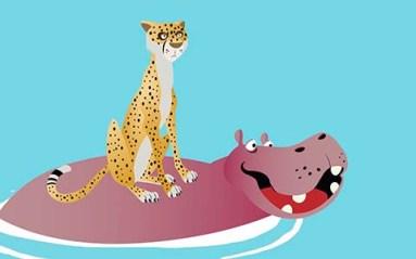 الفهد وفرس النهر