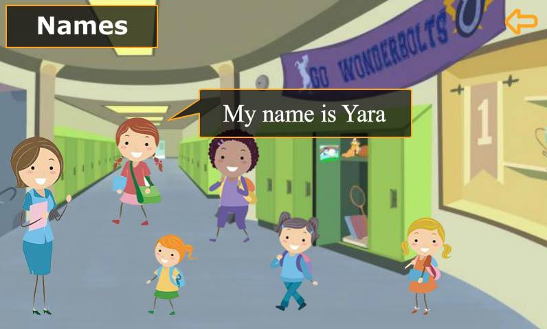 انجليزي-الصف-الأول-My-name-is-Yara