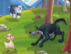 الذئب والكلاب
