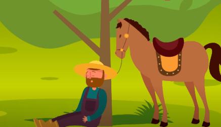 قصة المزارع الكسول والارنب 1 - قصص أطفال - قصص قصيرة قبل النوم