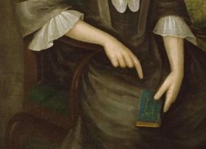 Detail, Abigail Fowle by Joseph Badger
