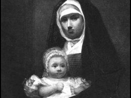 19th century nun with baby