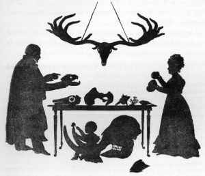 Buckland family silhouette