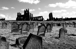 Photograph of graveyard in Whitby.