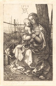 Engraving of 'The Virgin and Child Seated by a Tree' by Albrecht Dürer (1513), courtesy of the National Gallery of Art (USA)