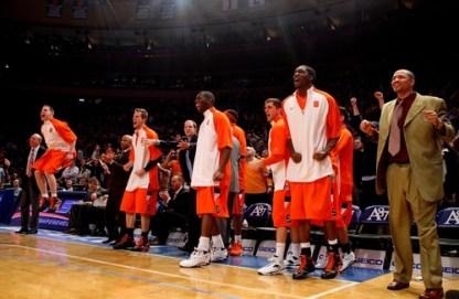 Le banc de Syracuse tout sourire (c) Getty