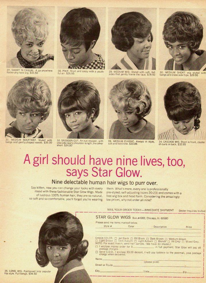 Vintage Hair Adverts 1960s 70s Products Styles And