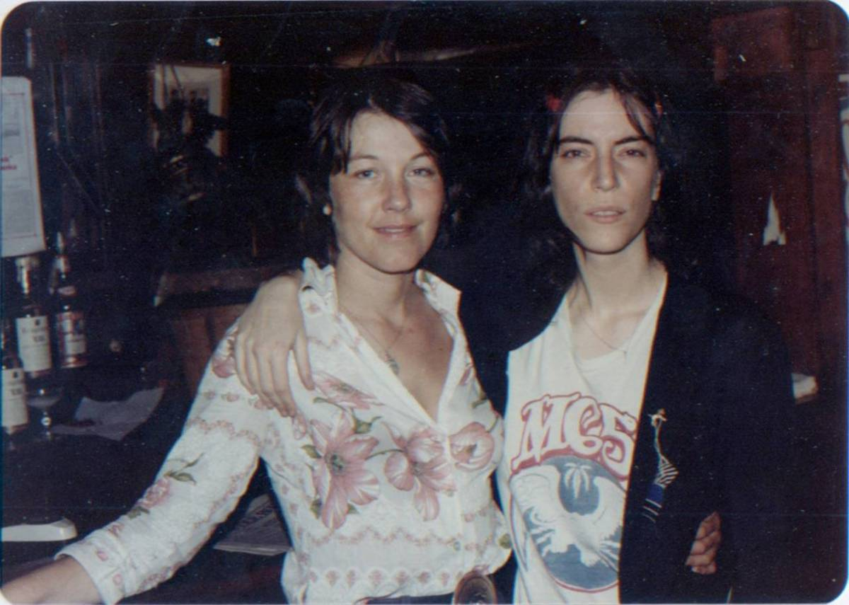 """Patti Smith was hanging around at the bar, but no one was taking pictures of her because she was super-shy. She posed with me and then just went away: some musicians are like that, they're not into socialising. They're just artists."""