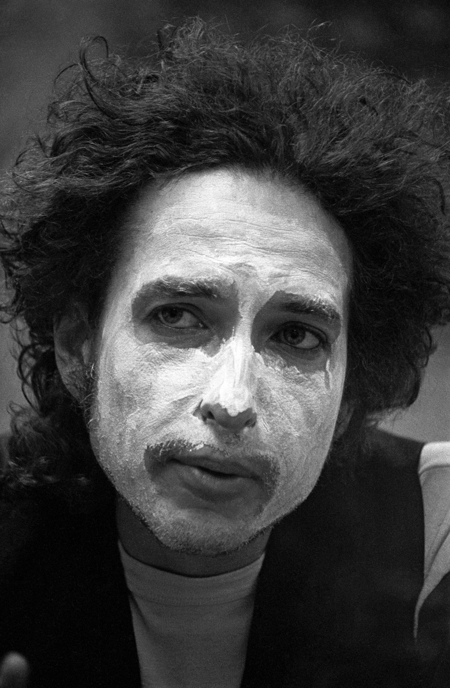 """Durham, New Hampshire, where Ken takes close up portraits of Bob Dylan in whiteface. """"I want the people way in the back to be able to see my eyes."""" Ken recalls Bob Dylan explaining to him."""