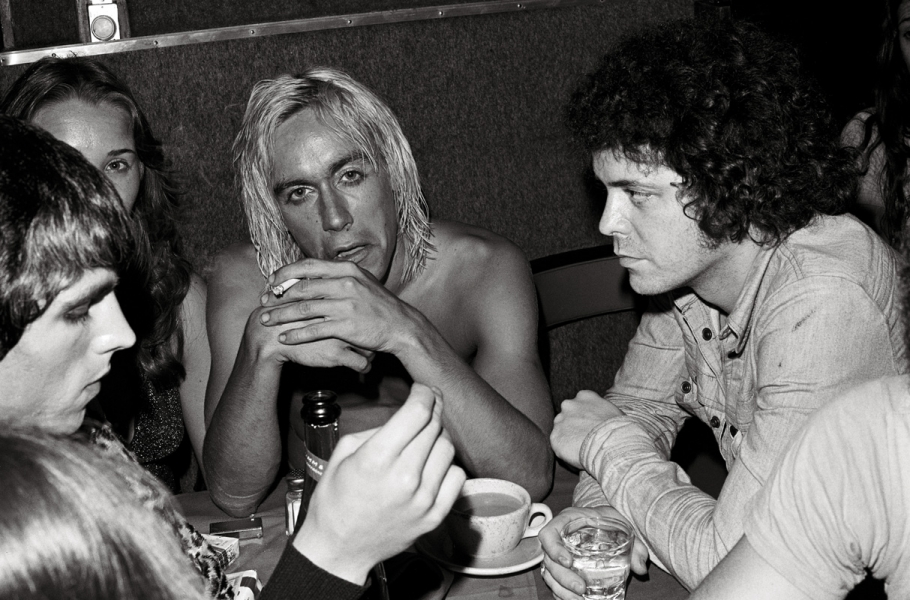 Rockers James Williamson, Iggy Pop, and Lou Reed. Photograph by Danny Fields