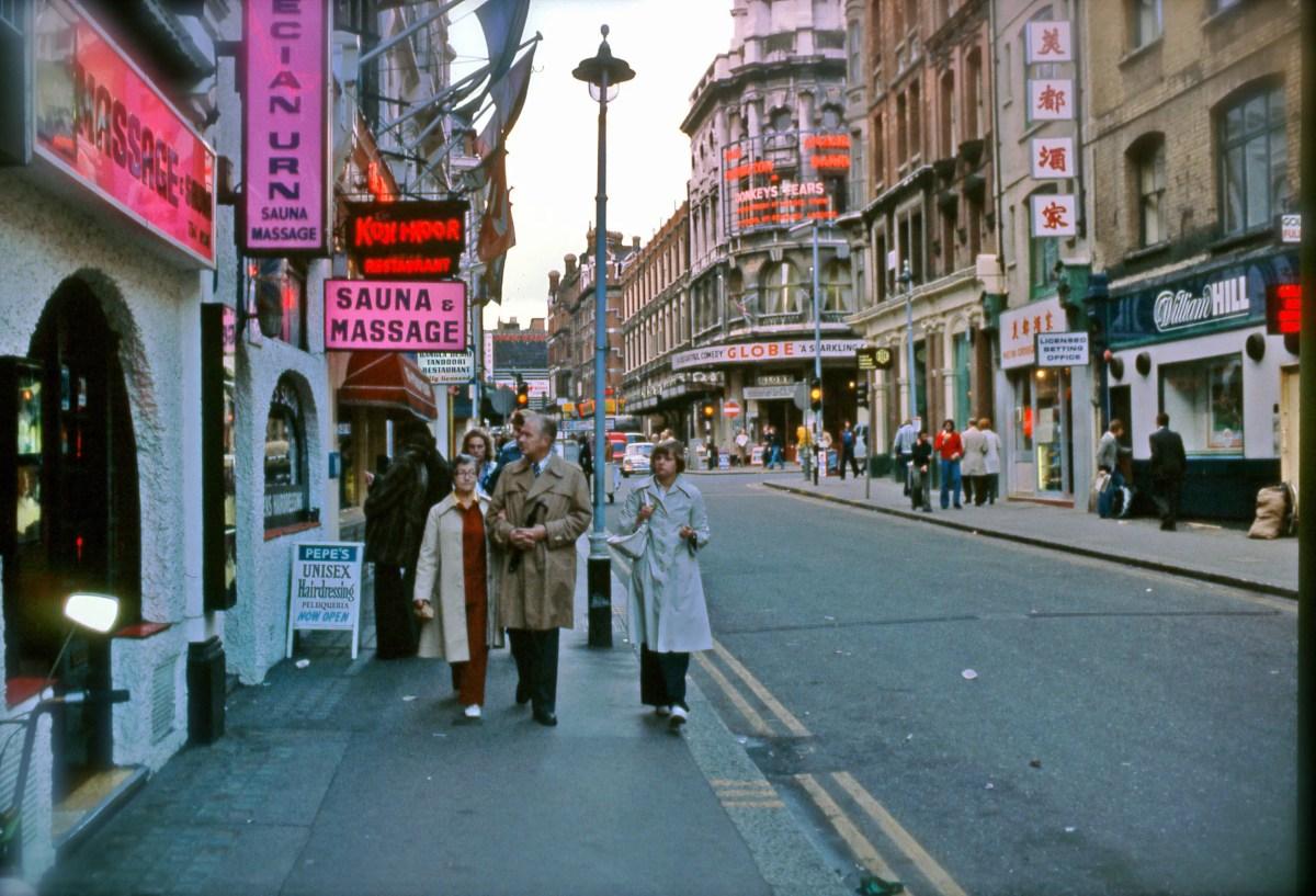 London 1977 October snapshots Kodachrome