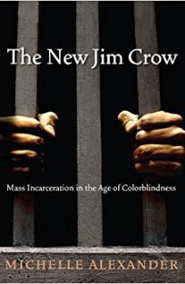 """Image of the cover for """"The New Jim Crow"""" by Michelle Alexander."""