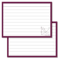 Economy Leitner flashcards A7 size