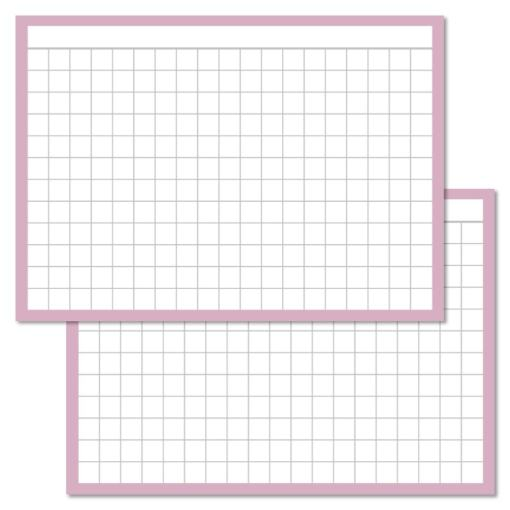 Checkered Lilac Leitner flashcards A7 size