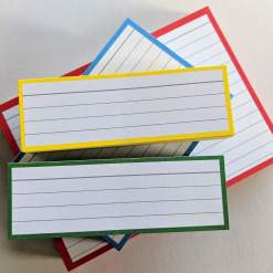 Testpack Flashcards Yellow Green Blue Red