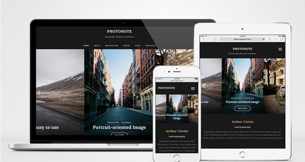 PHOTONOTE ธีม WordPress สำหรับช่างภาพ