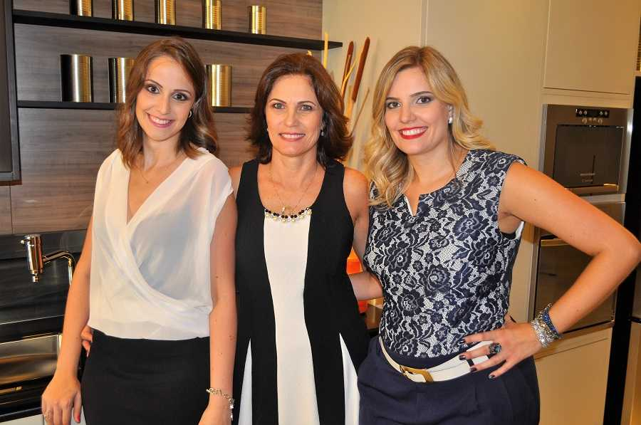 Mariana, Eliana e Carolina Gonçalves, anfitriãs