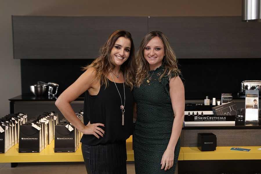 Dr. Catarine Padoveze com Luciane Prado, do Laboratório Skin Ceuticals, do grupo L'Oreal