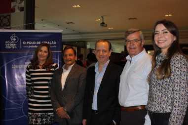 Nova diretoria: Dionice Palacio, Nelson Feuer, Douglas Lorca, José Manoel Gonçalves e Catarina Irie