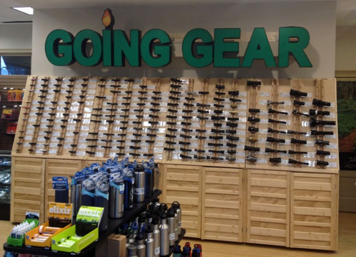The Great Wall of Flashlights at Going Gear