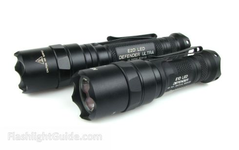 SureFire E1D LED Defender and E2D LED Defender Ultra