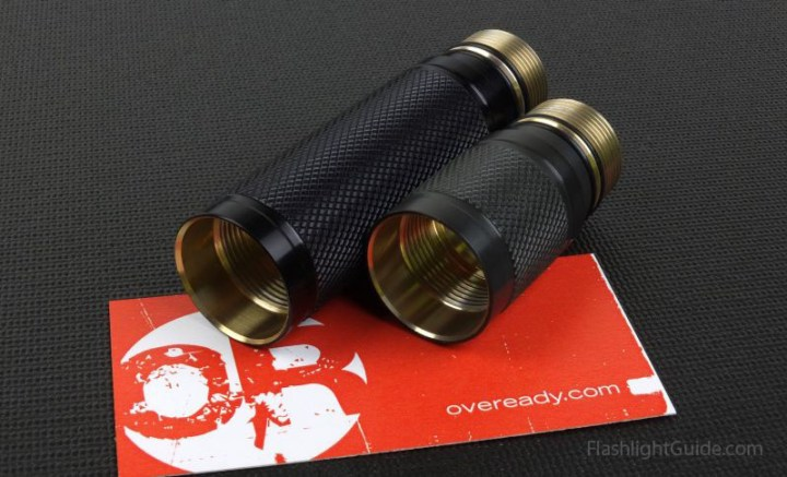 OVEREADY custom body extenders for SureFire flashlights