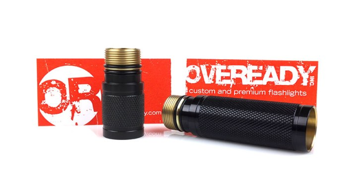 OVEREADY body extenders for SureFire flashlights