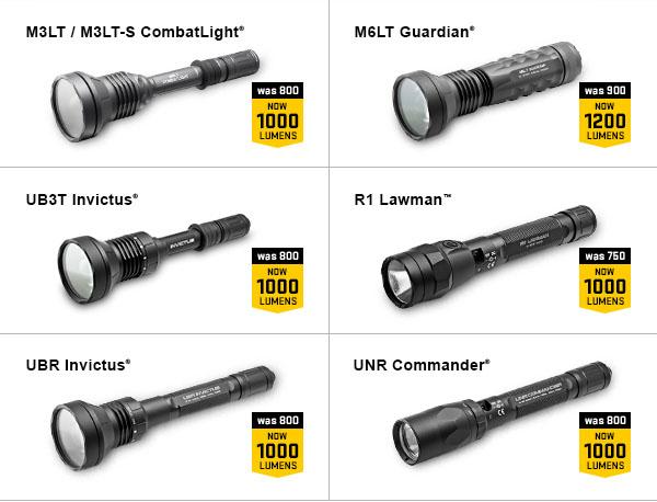 SureFire M3LT M6LT UB3T R1 UBR UNR 1000 lumens