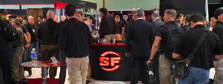 SureFire new products display at 2015 SHOT Show