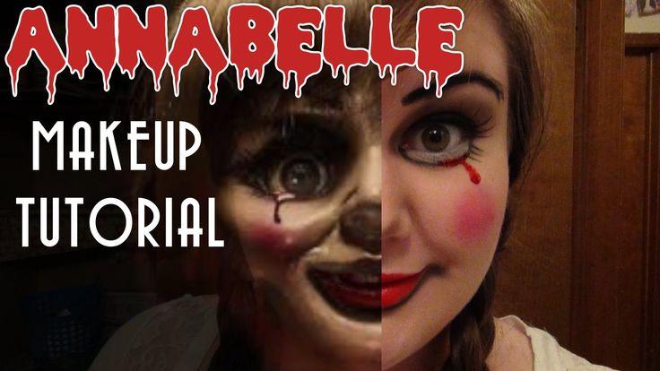 Creepy Annabelle Doll Halloween Makeup