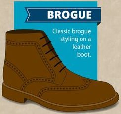 bottines marron chaussure cuir brogue homme