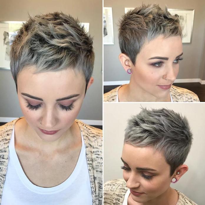 Coupe de cheveux super courte pour les femmes aux cheveux fins