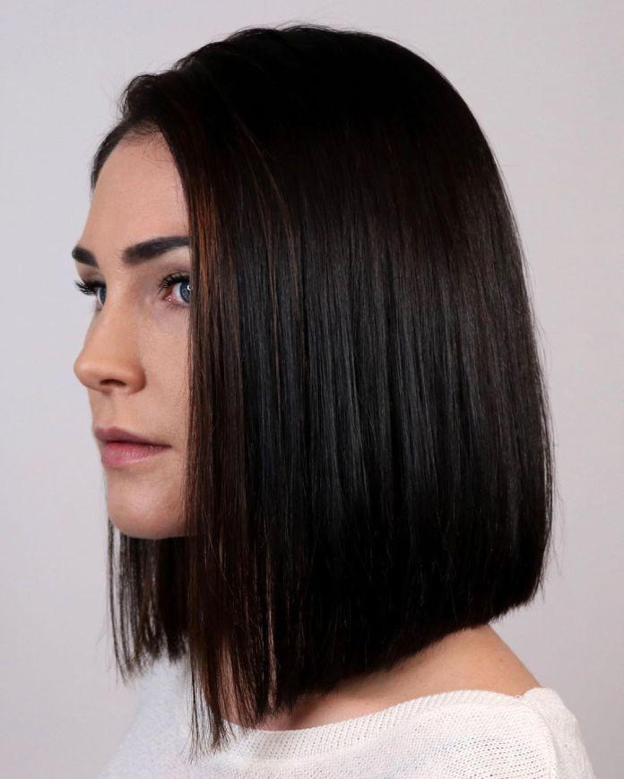 Coupe de cheveux à angle arrondi
