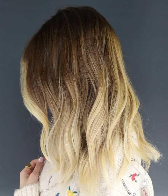 Ombre blonde pour cheveux courts à moyens