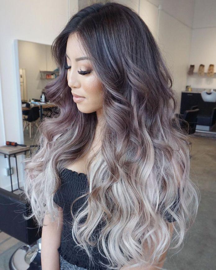 Ombre blonde pour cheveux bruns