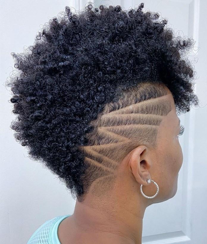 Style Undercut noir pour cheveux naturels