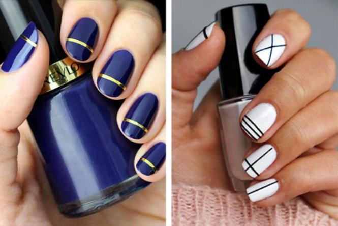 Nail Art Simple Et Chic En 30 Idées Inspirantes Faciles à Imiter Déco Ongles 2 28