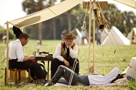 SULLIVAN'S ISLAND, SC - APRIL 9: Civil War Reenactors from around the Unided States gather at Fort Moultrie on Saturday, April 9, 2011, in Sullivan's Island, SC, to commerate the 150th anniversary of the beginning of the Civil War. (Brett Flashnick/For The Washington Post)