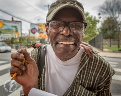 Irving Fields is a formerly homeless man who made money by drawing portraits of people at Pat's King of Steaks in the Italian Market neighborhood of South Philadelphia, PA. Fields has continued to draw portraits for money after finding a home because he enjoyed doing it.