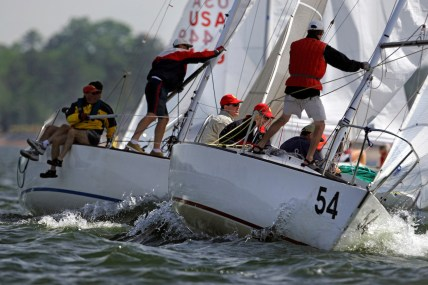 04/15/2006 - Irmo, S.C., Thirty-three, J24 class yachts took part in the 39th annual Easter Regatta on Lake Murray, Saturday morning. (Brett Flashnick/Special to The State)