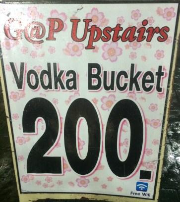 Vodka Bucket - $5.60